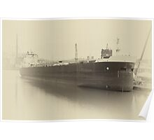 Sepia Freighter Poster