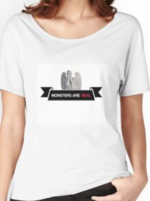 monsters are real (weeping angel version 3) Women's Relaxed Fit T-Shirt