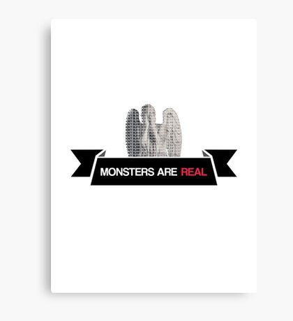 monsters are real (weeping angel version 3) Canvas Print