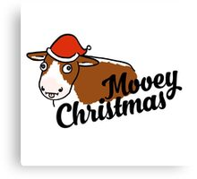 Mooey Christmas! Canvas Print