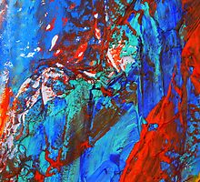 Cadillac Ranch Abstract #4 by reneecettie