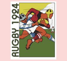 Retro rugby 1924 vector art Kids Clothes