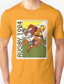 Retro rugby 1924 vector art Unisex T-Shirt