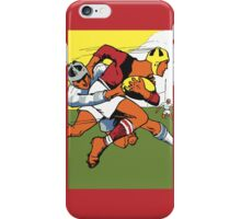 Retro rugby 1924 vector art iPhone Case/Skin