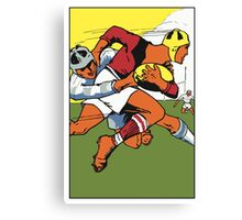 Retro rugby 1924 vector art Canvas Print