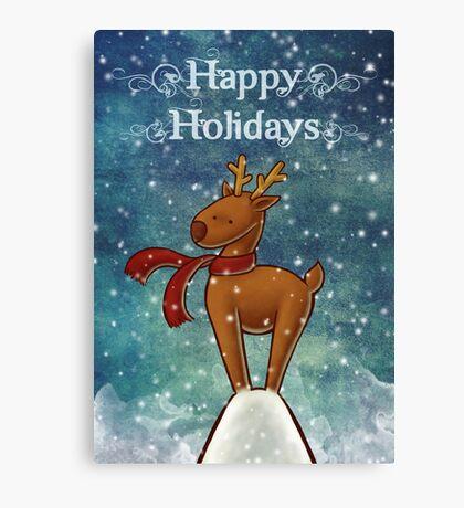 Holiday Reindeer Canvas Print