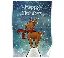 Holiday Reindeer Poster