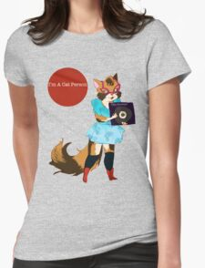 I'm a Cat Person-Girl Womens Fitted T-Shirt