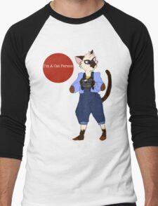I'm a Cat Person-Boy Men's Baseball ¾ T-Shirt