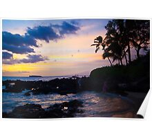 Sunset at Makena Cove, Maui Poster