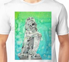 Traditional Watercolor and Ink Lion Statue  Unisex T-Shirt