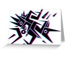Tribal 3D design Greeting Card