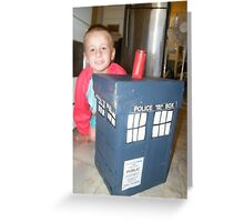 Make your own cardboard Toy Box Tardis  Greeting Card