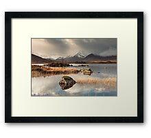 Loch Na h-Achlaise on Rannoch Moor Framed Print