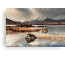 Loch Na h-Achlaise on Rannoch Moor Canvas Print