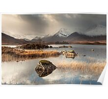Loch Na h-Achlaise on Rannoch Moor Poster
