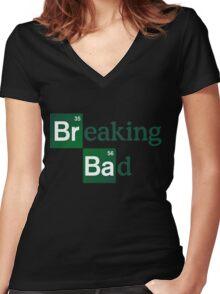 Breaking Bad Logo Women's Fitted V-Neck T-Shirt