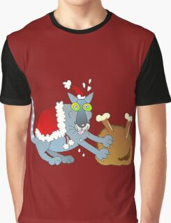 Xmas mischief: who cuts the turkey? Graphic T-Shirt