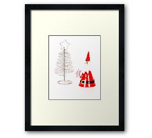 Santa & tree Framed Print