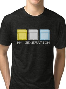 Gold Silver Crystal Generation Tri-blend T-Shirt