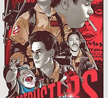 Cool Ghostbusters Movie Poster by Spadaro