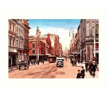 Sydney history, George Street around 1900 Art Print