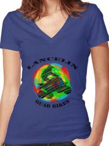 Lancelin Quad Bikes - Logo Women's Fitted V-Neck T-Shirt