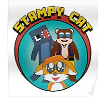 Minecraft Youtuber Stampy Cat, iBallisticsquid, L for Lee x Poster