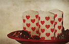 Hearts in a Bowl by Denise Abé