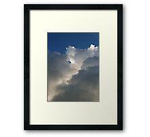 Hug a teddy bear cloud today! Framed Print
