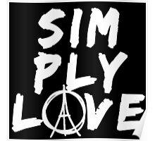 Simply Love - Paris (White) Poster