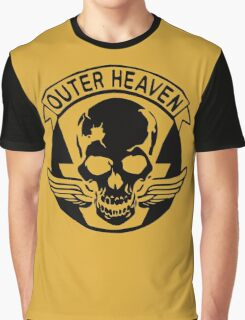 Outer Haven Logo Black Graphic T-Shirt