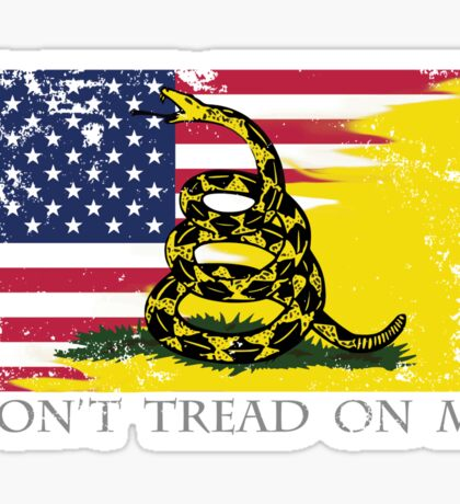 American Gadsden Flag Worn Sticker