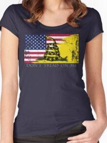 American Gadsden Flag Worn Women's Fitted Scoop T-Shirt