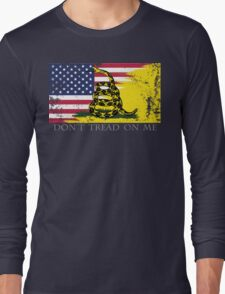 American Gadsden Flag Worn Long Sleeve T-Shirt