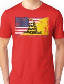 American Gadsden Flag Worn Unisex T-Shirt