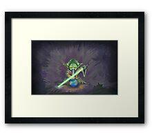 Stoned Yoda - #StarWars #StarWarsTheForce #Cannabis  Framed Print