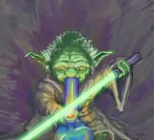 Stoned Yoda - #StarWars #StarWarsTheForce #Cannabis  Sticker
