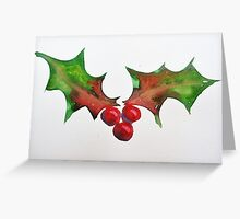 Holly 1 Greeting Card
