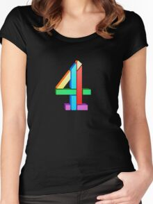 Channel 4 retro logo  Women's Fitted Scoop T-Shirt