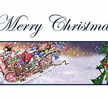 Christmas Sleigh Card by JezLong