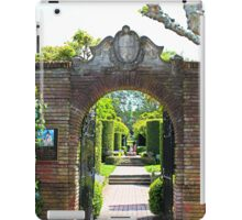 Archway at Filoli Gardens iPad Case/Skin
