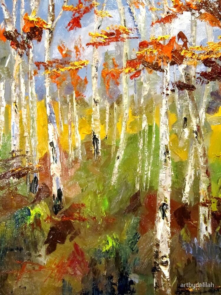 Brush Stroke Birchs by artbydelilah