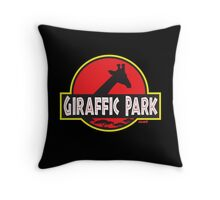 Giraffic Park Throw Pillow
