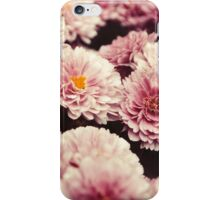 Pink vintage flowers iPhone Case/Skin