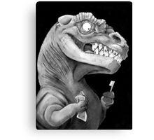 Nirvana Ink Dinosaur Illustration Canvas Print