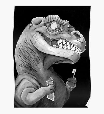 Nirvana Ink Dinosaur Illustration Poster