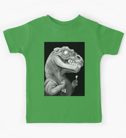 Nirvana Ink Dinosaur Illustration Kids Tee