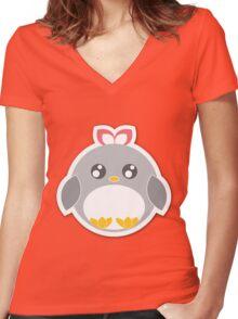 Penguin Ball Women's Fitted V-Neck T-Shirt