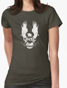 UNSC Logo White Womens Fitted T-Shirt